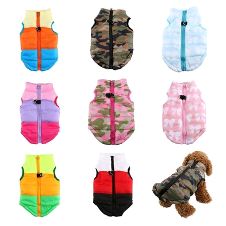 Yosoo Pet Cat Dog Patchwork Winter Fall Waterproof Vest Warm Cotton Jackets Puppy Costume - Cat Costume For A Dog
