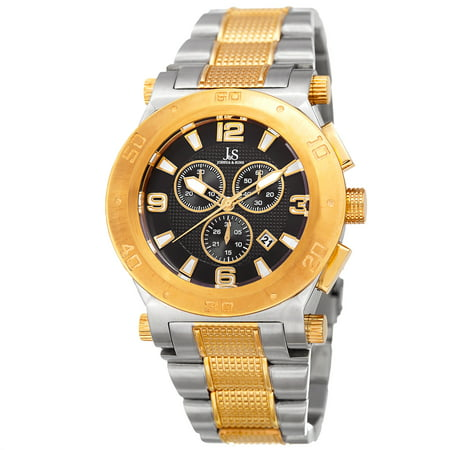 Men's Swiss Quartz Chronograph Multifunction Stainless Steel Two-Tone Bracelet Watch