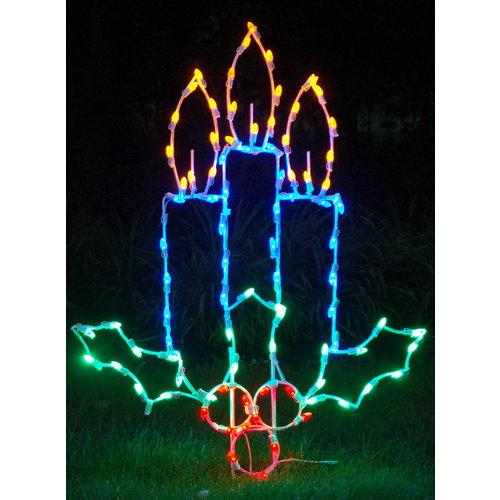 Christmas at Winterland WL-GM109-LED LED Light Candles with Holly