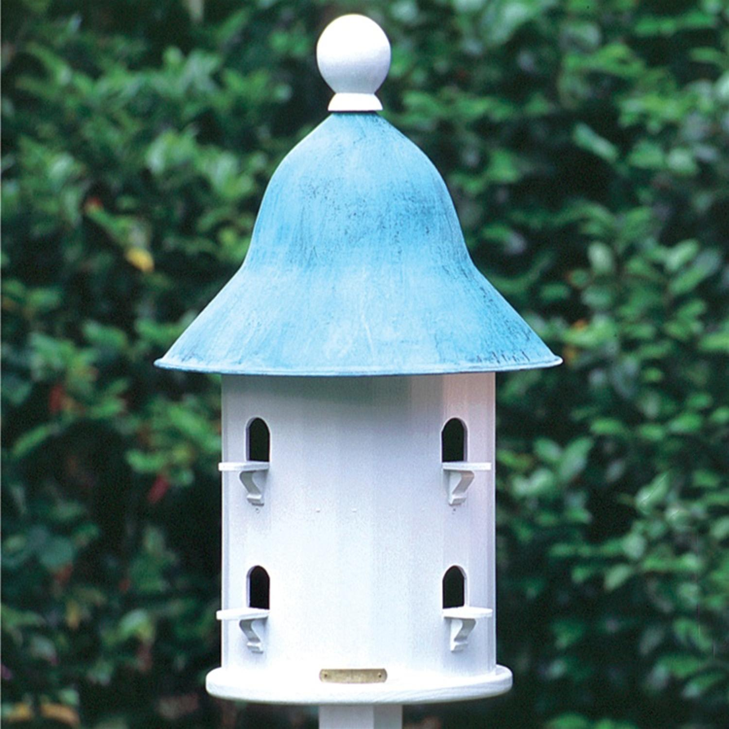 "17"" Fully Functional Enchanted Blue Verde Bell Outdoor Garden Birdhouse"