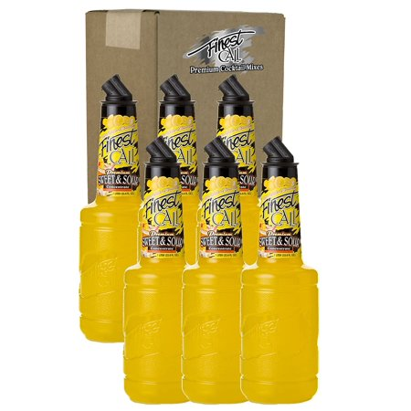 Finest Call Premium Sweet & Sour Concentrate Drink Mix, 1 Liter Bottle (33.8 Fl Oz), Pack of 6