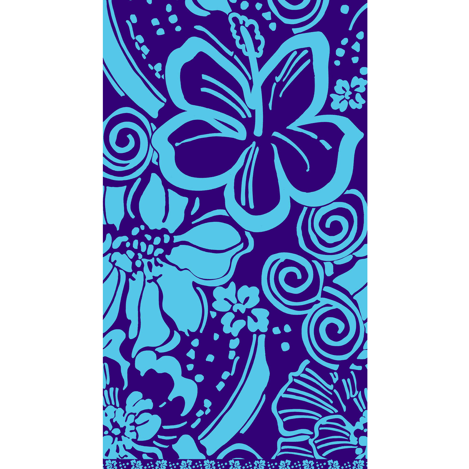 "Better Homes and Gardens 40"" x 72"" Oversized Woven Beach Towel, Polynesian Paradise"