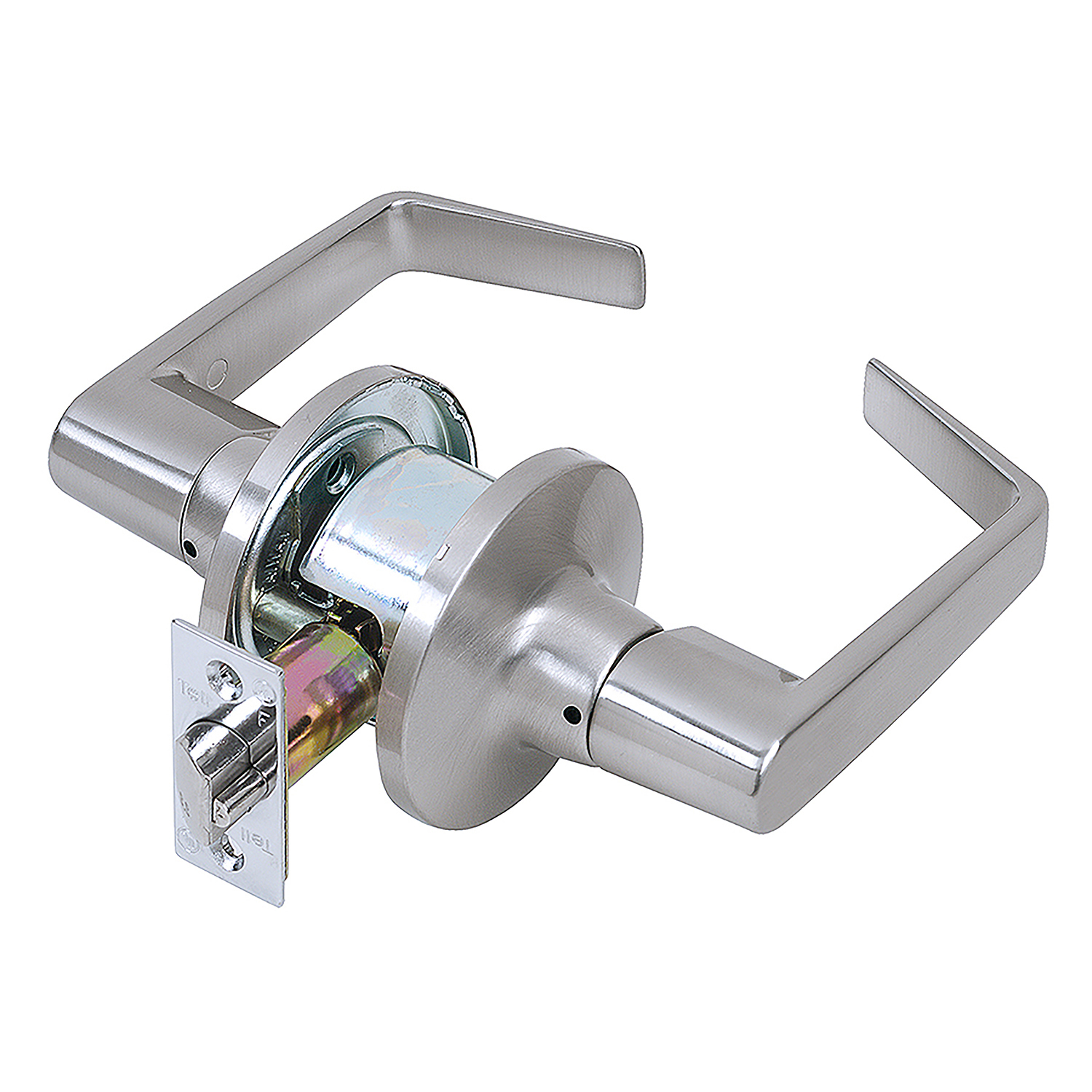 Tell Manufacturing CL100197 Satin Chrome Light-Duty Commercial Passage Lever