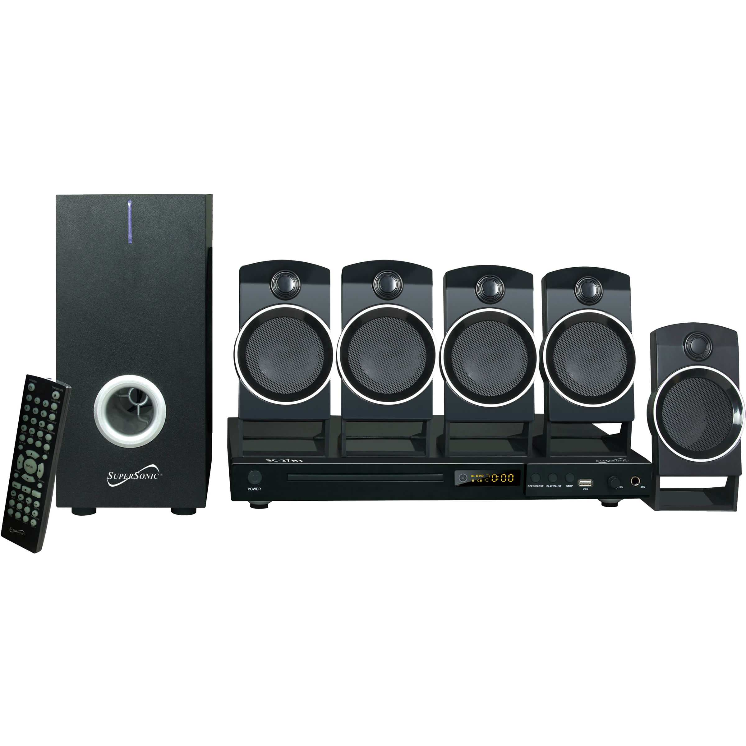 5.1 Channel DVD Home Theater System by Supersonic