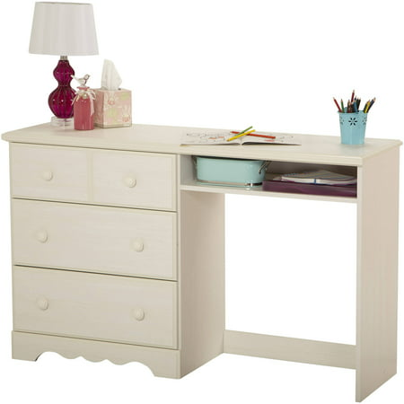 shore summer breeze desk with 3 drawers white wash