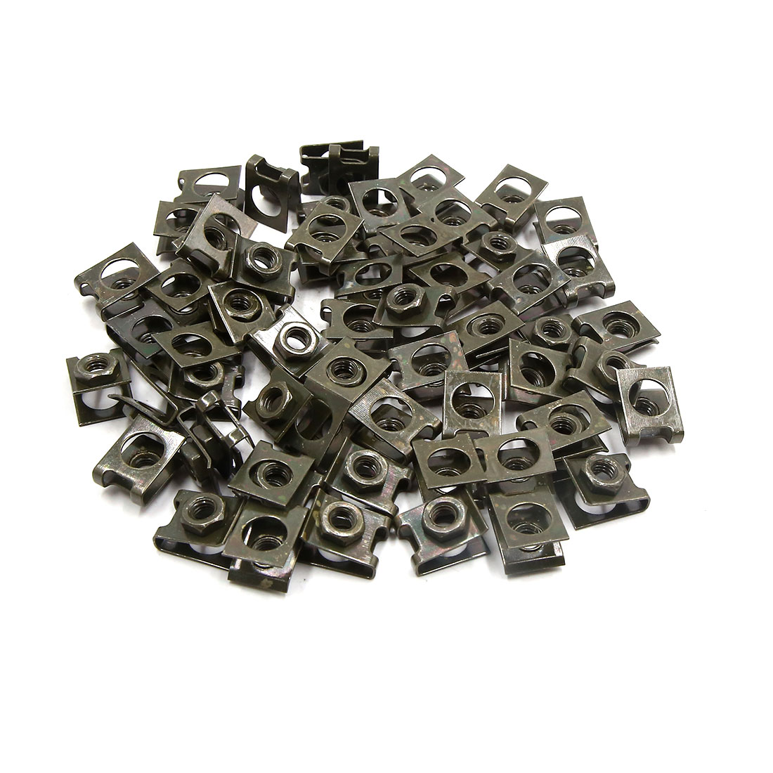 60pcs 5mm Dark Green Metal Motorcycle Car Rivets Door Panel Screw Fastener Clips
