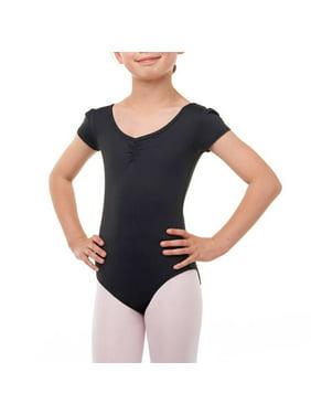 Danskin Now Girls' Premium Nylon Cap Sleeve Ballet Leotard with Front Liner Sizes 4/5 - 14/16 and Toddler