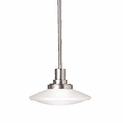 kichler 2655ni, structures mini round pendant, 1 light, 100 watts halogen, brushed nickel