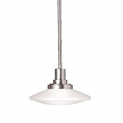 kichler 2655ni, structures mini round pendant, 1 light, 100 watts halogen, brushed nickel