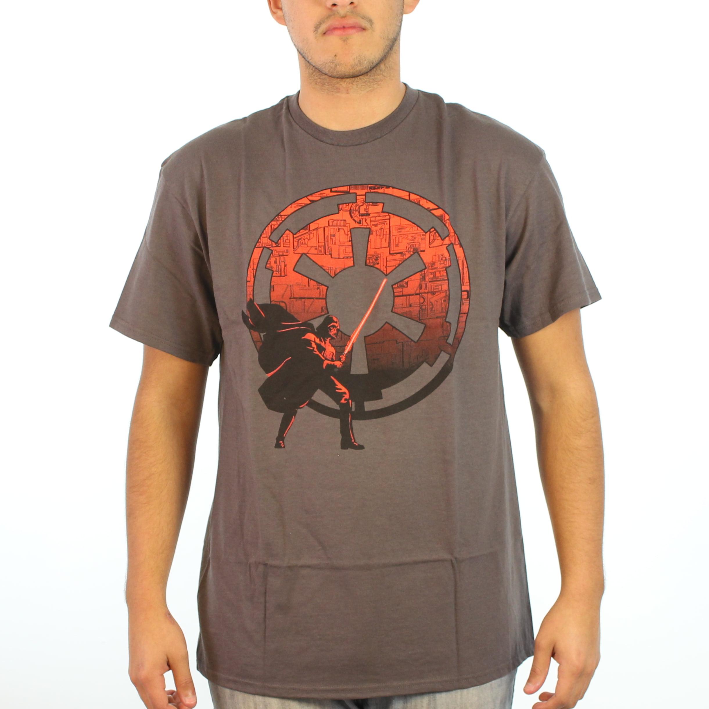 Star Wars Darth Vader Milenium Falcon Background Men's Brown T-shirt
