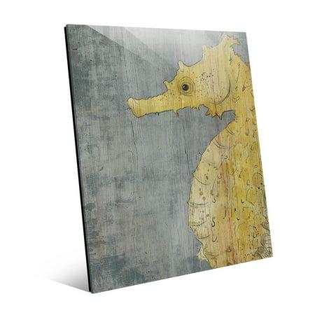 "Big Yellow Seahorse |20"" x 24"" Acrylic wall art"