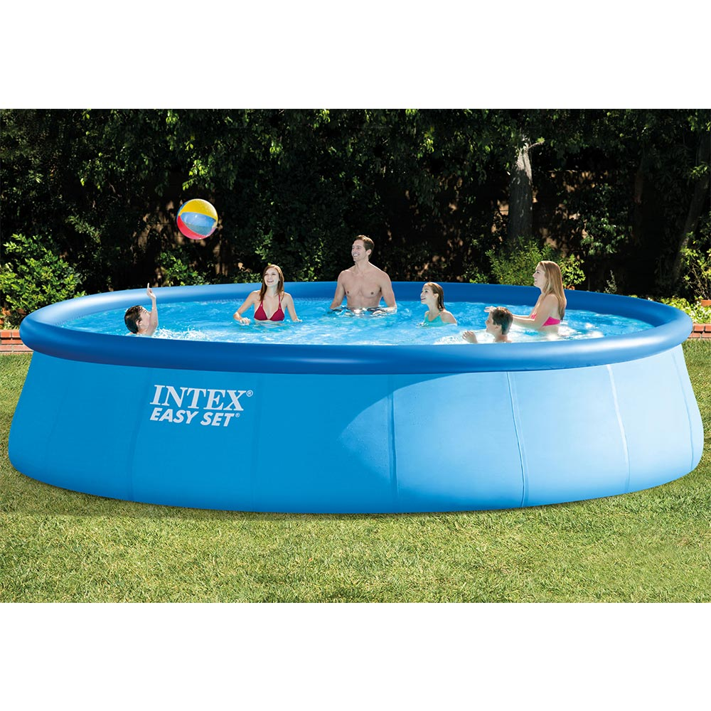 "Intex 18' x 48"" Easy Set Above Ground Pool with Filter Pump by Intex Development Co. Ltd"