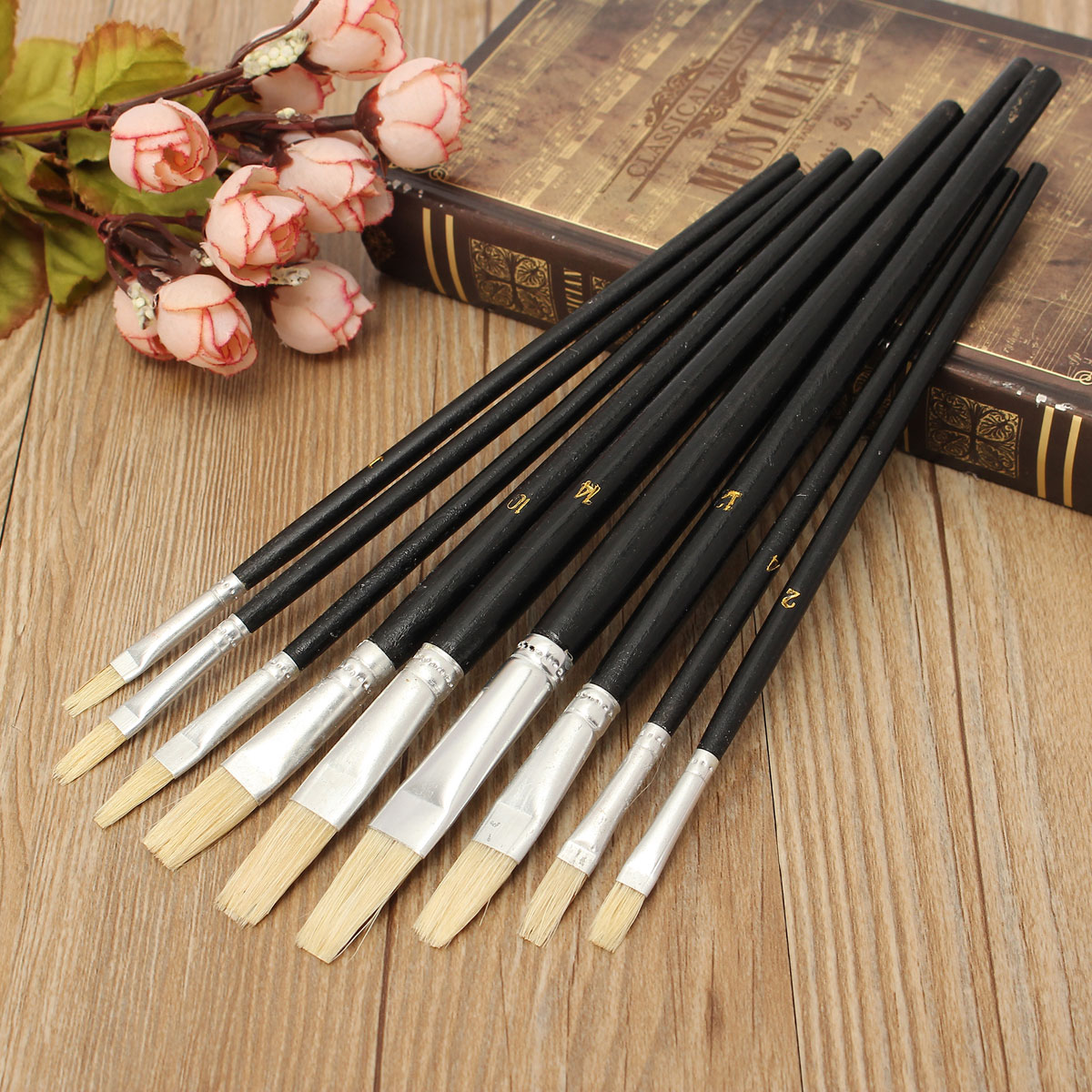 9 PCS Artist Art Paint Brushes Set Kit For Watercolour Oil Painting Face Paints Craft by
