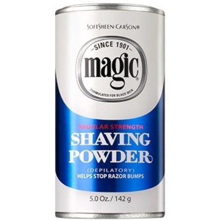 Magic Shaving Powder Blue Regular Strength 5 oz (Pack of 6)