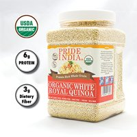Pride Of India - Organic Red Royal Quinoa - 3.3 lbs (1.5 kg) Jar - Richer, Chewier & Nuttier Flavor - Protein & Fiber Rich Grain - Used in Sushi, Mexican & Stir-fry Dishes - Great Value