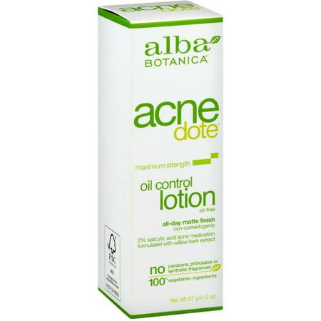Alba Botanica Acne Dote Oil Control Lotion, Maximum Strength 2 oz