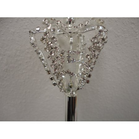 """Charmed Princess/Queen 18"""" Scepter. Halo Crown with Rhinestone #15 Inside."""