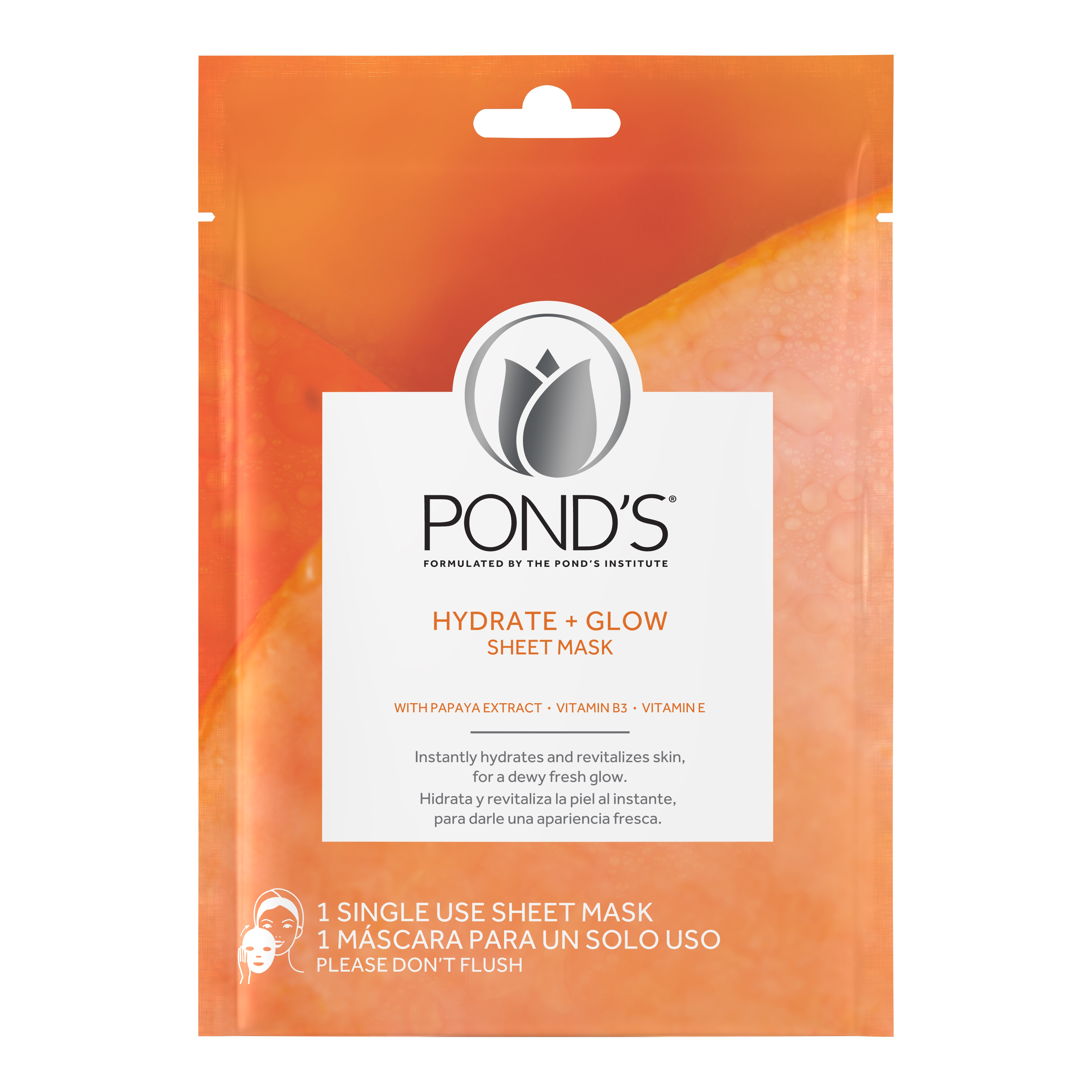 (2 Pack) Pond's Hydrate + Glow Sheet Face Mask