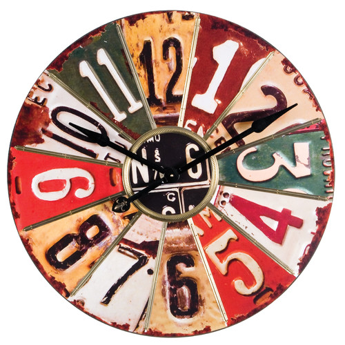 Wilco Home Oversized 29'' License Plate Wall Clock