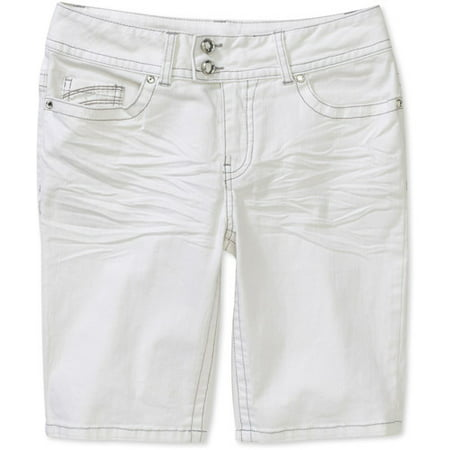acc72d9c3e Faded Glory - Faded Glory Women s Plus-Size Colored Embellished Bermuda  Shorts with Rhinestone Buttons and Flap-Back Pockets - Walmart.com