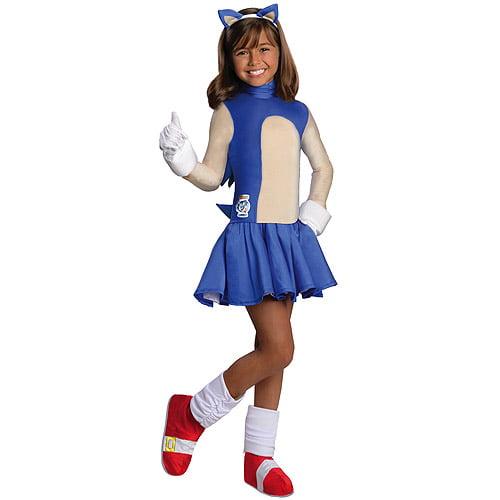 Girl's Sonic The Hedgehog Child Halloween Costume