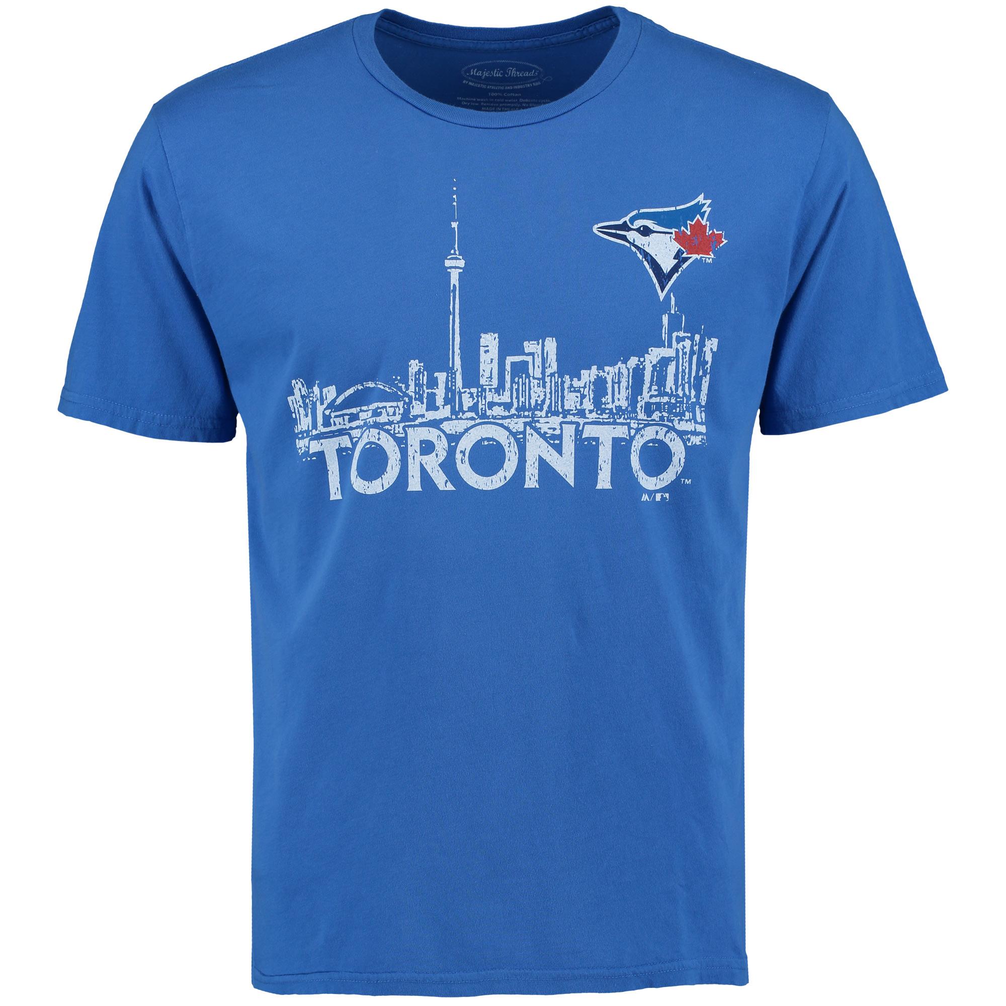 Toronto Blue Jays Majestic Threads City Skyline Softhand T-Shirt - Royal