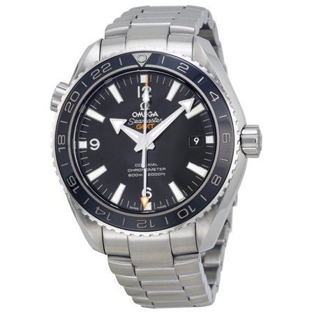 Omega Seamaster Planet Ocean GMT Black Dial Steel Mens Watch 23230442201001