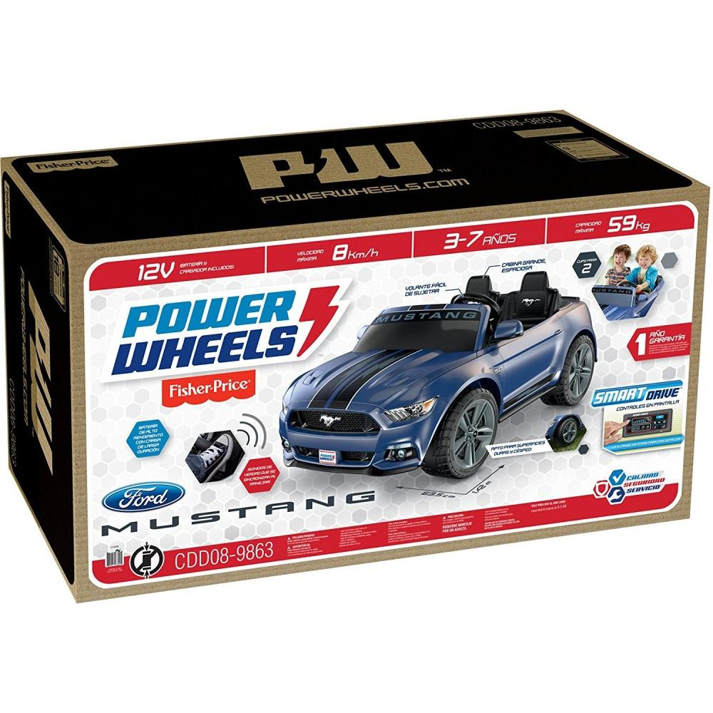 Power Wheels Smart Drive Ford Mustang Ride On Vehicle Walmart Com