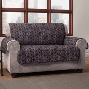 Innovative Textile Solutions Circles Loveseat Protector, Black
