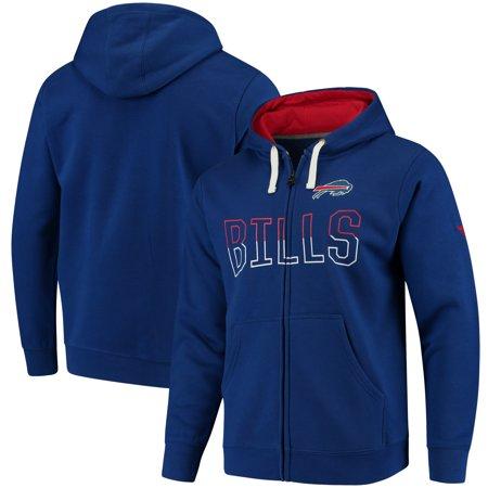 Buffalo Bills NFL Pro Line by Fanatics Branded Iconic Fleece Full-Zip Hoodie - Royal