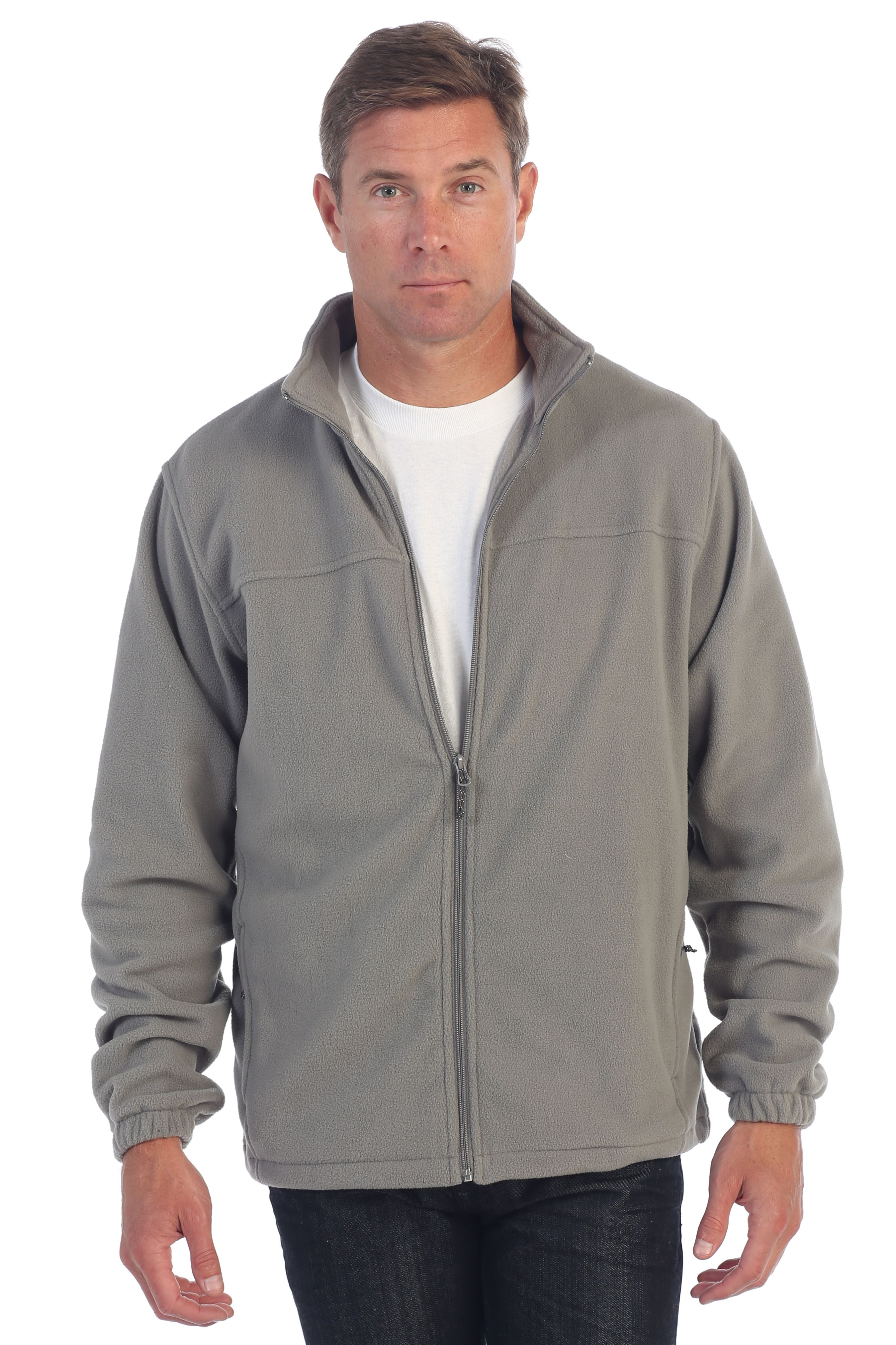 Gioberti Mens Full Zip Polar Fleece Jacket