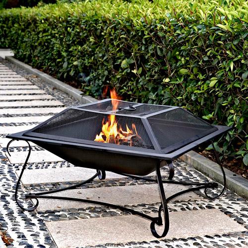 """Hamilton 30"""" Square Steel Fire Pit"""