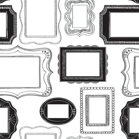 NuWallpaper Photo Opp Frames Peel & Stick Wallpaper Sample