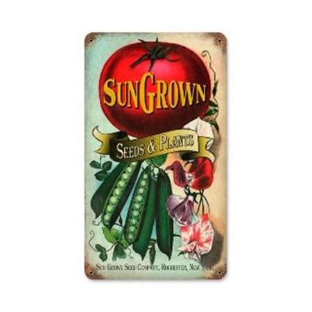 Past Time Signs PTS192 Sun Gown Seeds Home And Garden Vintage Metal Sign ()