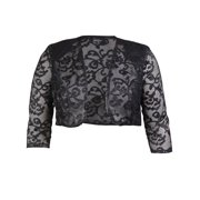 Onyx Nite Women's Sequin Cropped Jacket