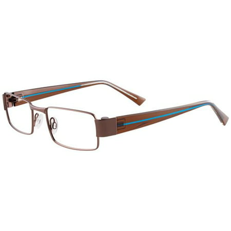 Eyeglass Frames Easy Clip : Aspex EasyClip Mens Metal Eyeglass Frames, Brown ...