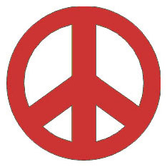 Reflective Stickers, Hard Hat Decals Peace Symbol