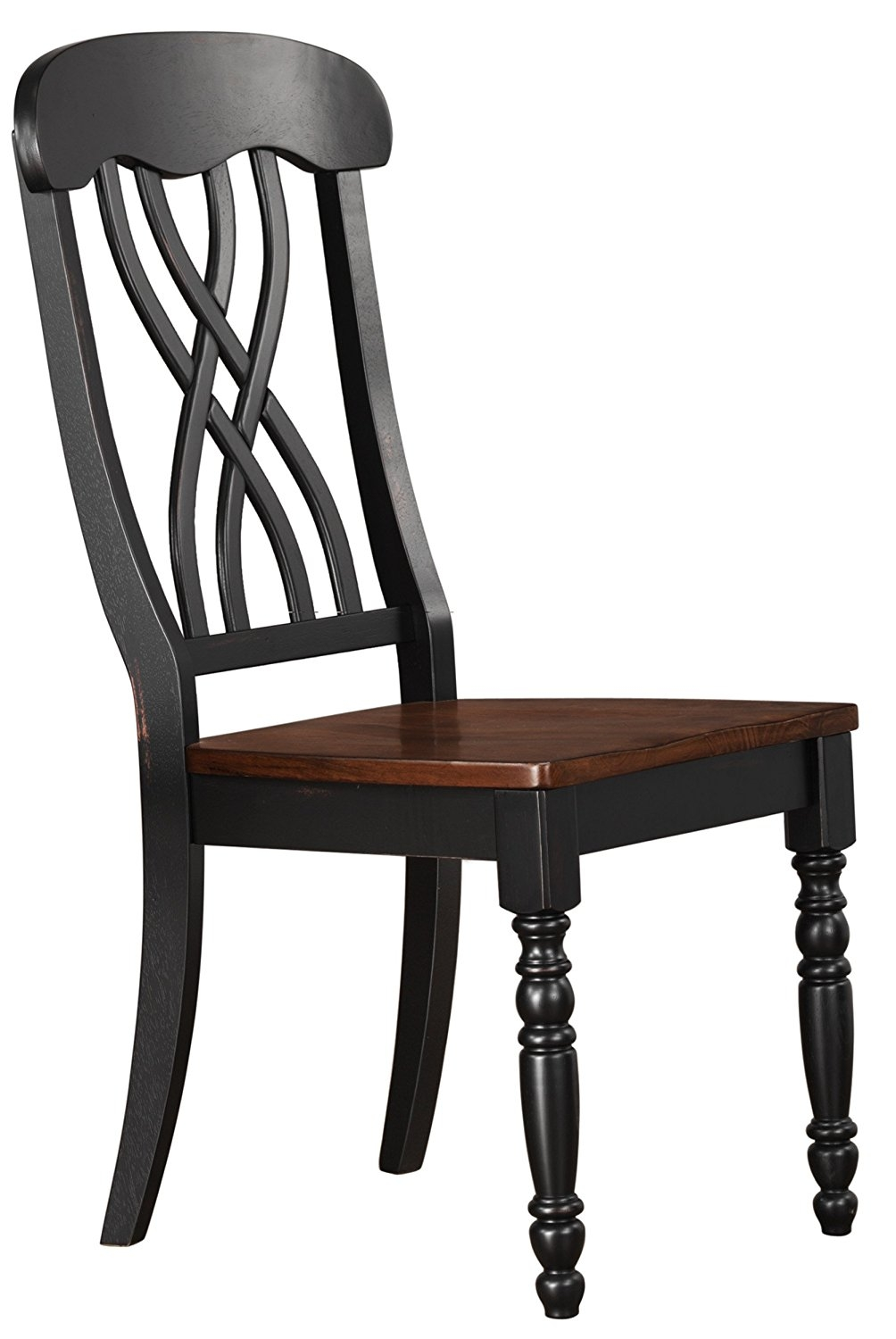 Homelegance Ohana 2 Piece Pack Causal Dining Chairs, Black & Cherry by Homelegance
