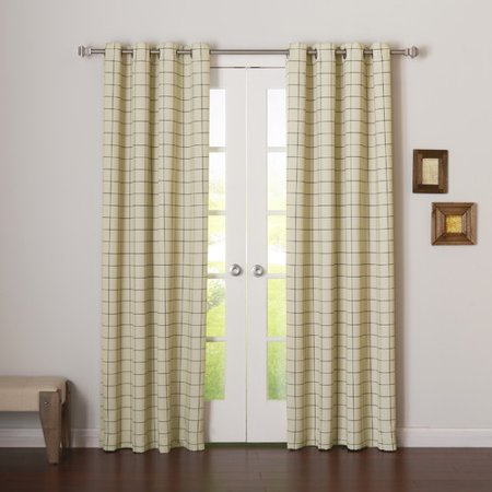Best Home Fashion, Inc. Plaid & Check Room Darkening Grommet Curtain Panels (Set of 2)