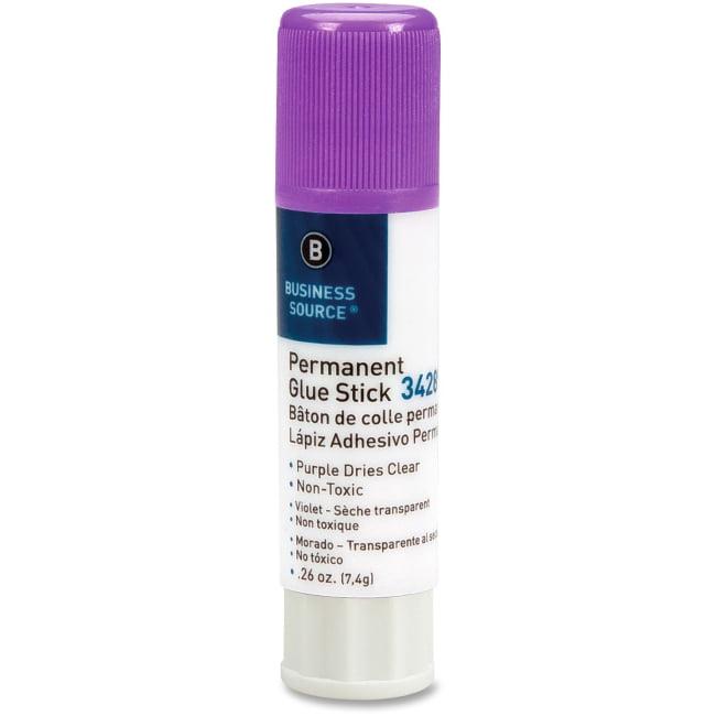 Business Source Bulk Purple Glue Sticks 0.26 oz 18   Pack Purple by Business Source