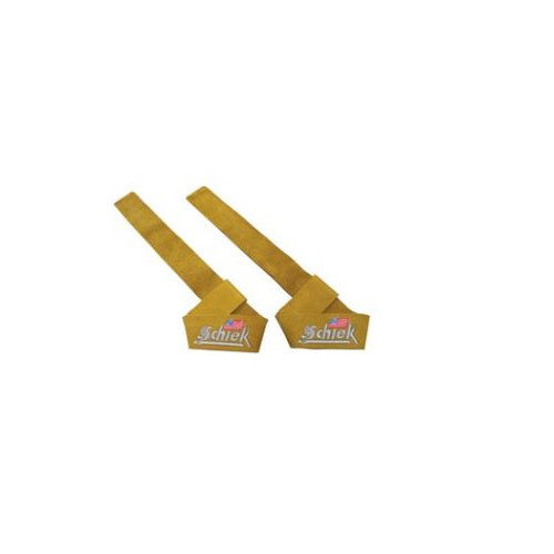 Schiek Sports, Inc. Leather Lifting Straps in Natural Leather
