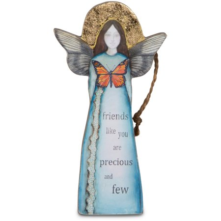 "Sherry Cook Studio - ""Friends like you are precious and few"" Angel Hanging Christmas Ornament 5.5"""
