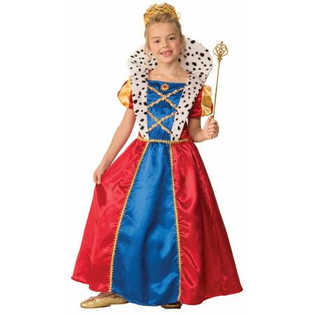 Queen Fairy Costume (Girls Royal Queen Renaissance Medieval Fairy Tell Queen)