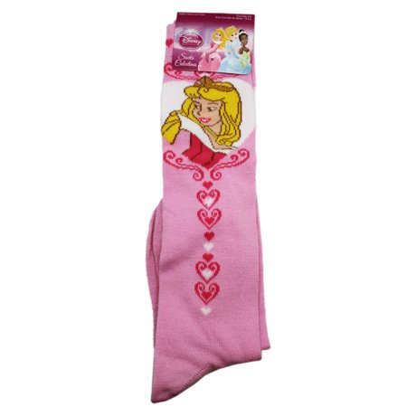 Disney's Sleeping Beauty Princess Aurora Long Pink Socks (2 Pairs, Size 6-8)](Sleeping Beauty Princess Aurora)