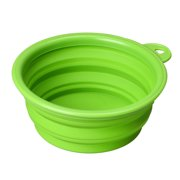 Dog Cat Pet Silicone Collapsible Travel Feeding Bowl Water Dish Feeder GN