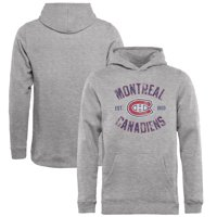 Montreal Canadiens Fanatics Branded Youth Heritage Pullover Hoodie - Ash