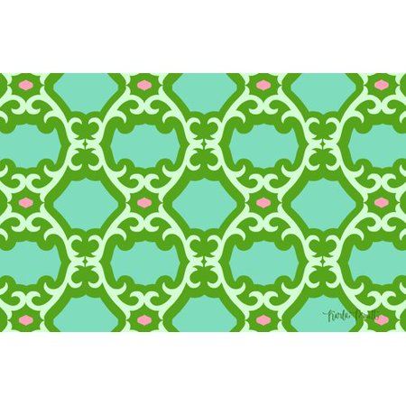 Manual Woodworkers & Weavers Francie Trellis Green Area Rug
