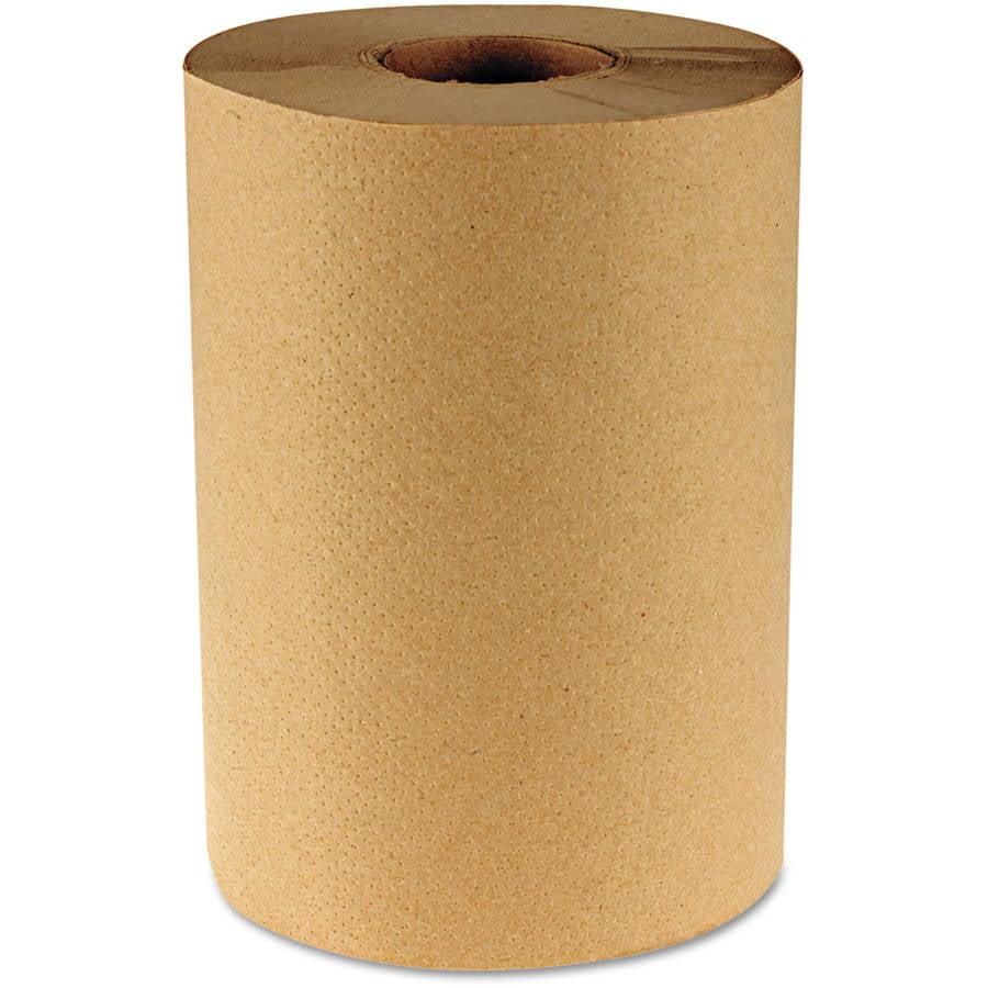 Boardwalk Hardwound One-Ply Kraft Paper Towels, 12 ct