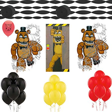 Halloween Night Party Ideas (Five Nights at Freddys Party Supplies Door Covers Balloons Room Decorating)
