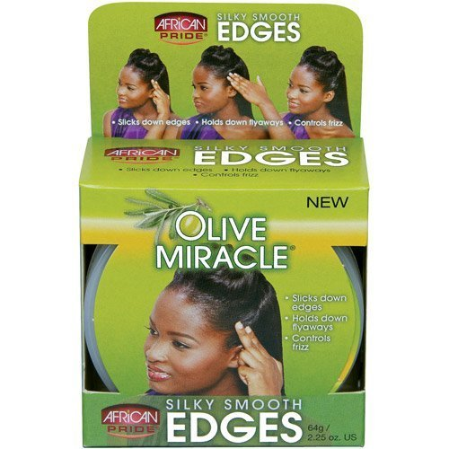 African Pride Olive Miracle Silky Smooth Edges 2 25 oz